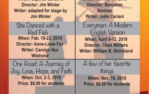 Vonnie Borden theatre/dance schedule