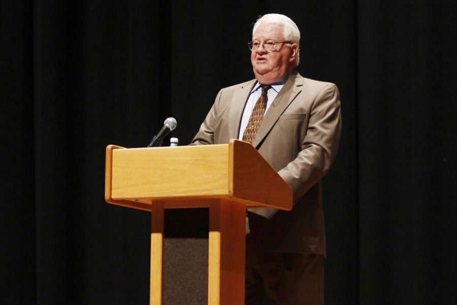 """The """"Then and Now"""" lecture series began with the Constitution Day lecture by Professor Ronald Traylor on Sept. 17."""