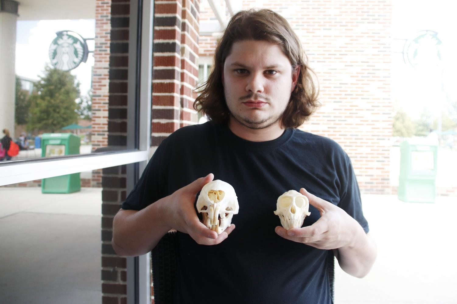 Austin George has turned his talent of cleaning animal heads into a hobby. He posts pictures of his skulls on his Instagram page.