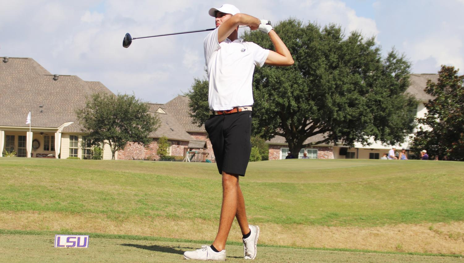 The university golf team faced 14 teams from 13 universities at the David Toms Intercollegiate.