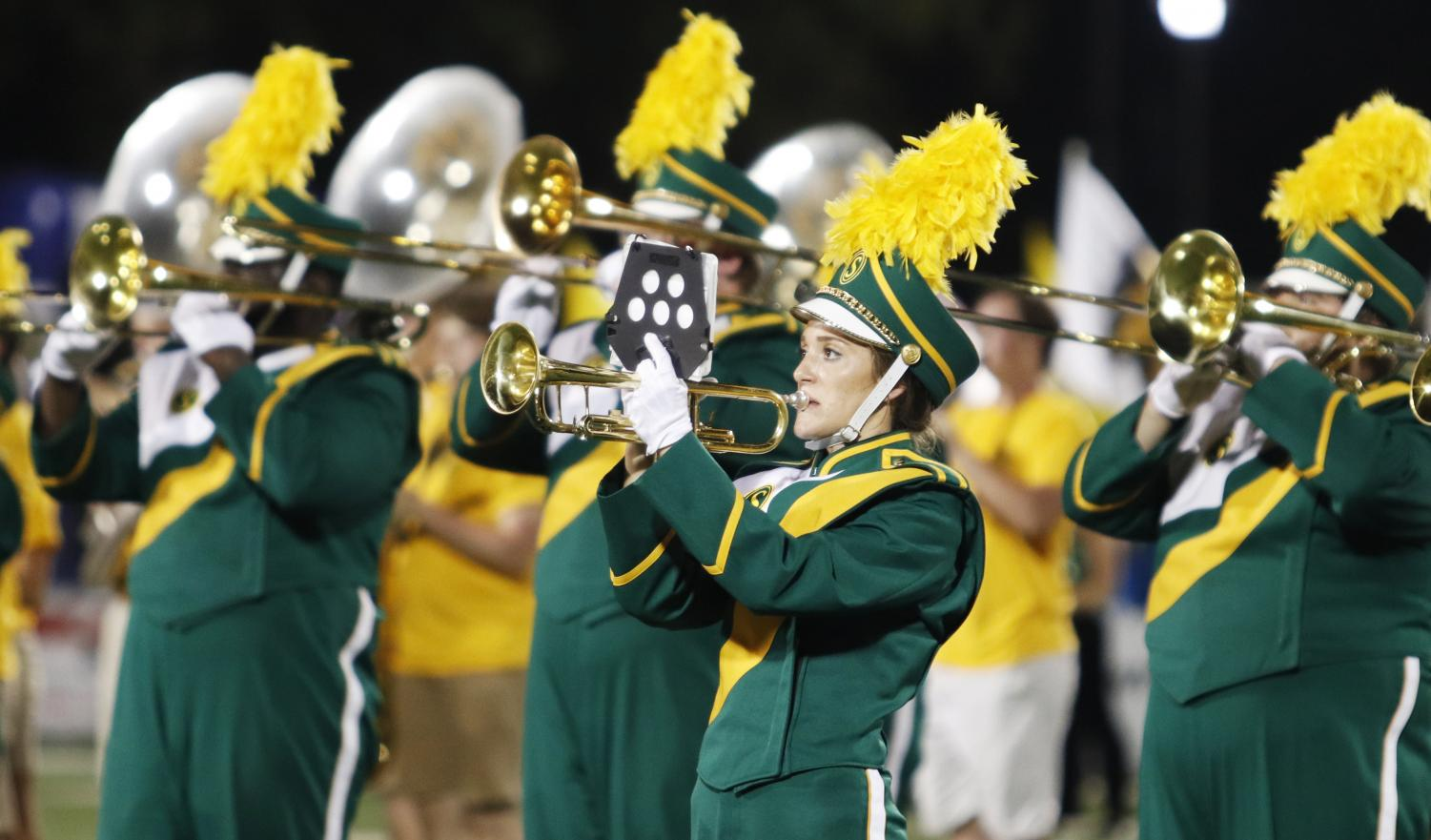 "The ""Spirit of the Southland"" Marching Band allows students to perform at university games regardless of the student's major."
