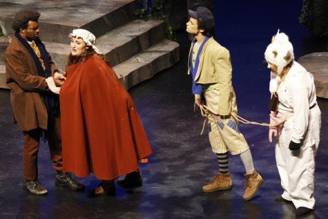 """""""Into the Woods"""" was performed in the Columbia Theatre for the Performing Arts. The act brought together well known characters like Cinderella, Rapunzel and Little Red Riding Hood."""