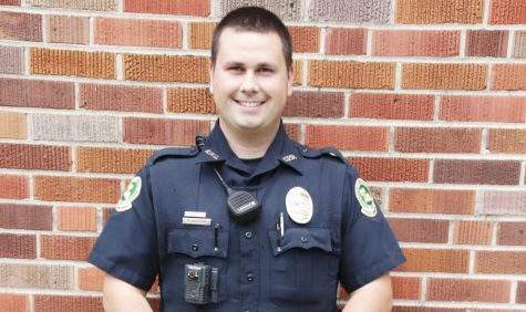 University Police Offer Michael Aleman aims to serve the university in his role on campus. His enjoyment of community events contributed to his reasons for joining the police force.