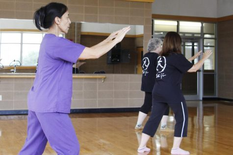 Muilin Hodges, a resident of Hammond, takes tai chi classes offered by the Recreational Sports and Wellness Center as a form of relaxation and exercise.