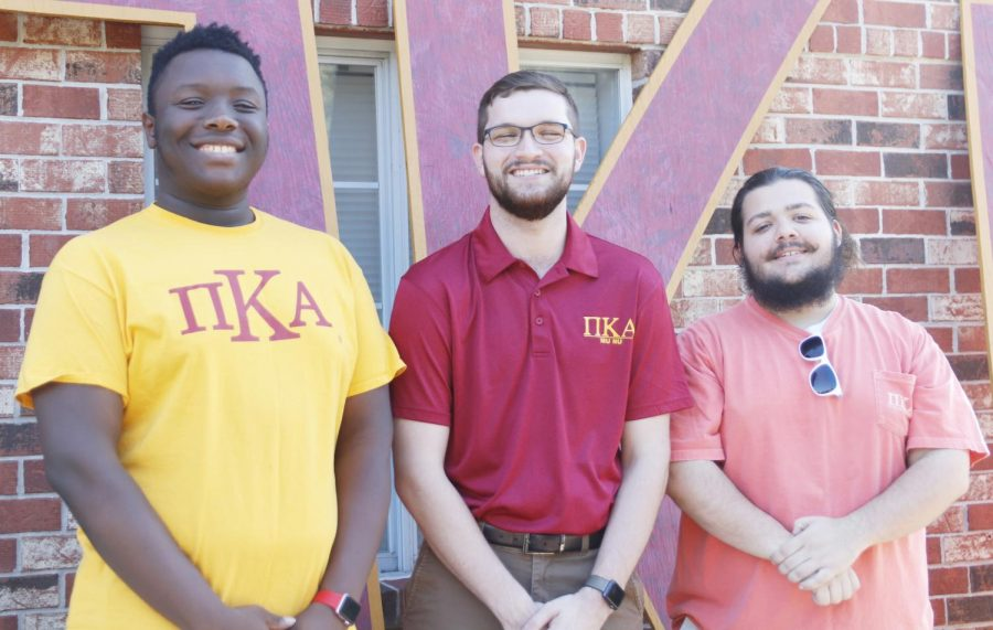 "Jamil Spriggs, Joshua Madere and Donald ""Lane"" Macaluso are members of Pi Kappa Alpha Fraternity. Madere was recognized as the September Pike of the Month by the international office. Madere is a junior business administration major who joined Pike in Spring 2018."