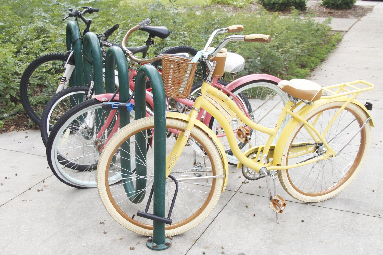 Transportation Services is looking at places on campus where more bicycle racks could benefit both students and faculty following the instituted bicycle policy that will require registration starting on Jan. 1, 2019.