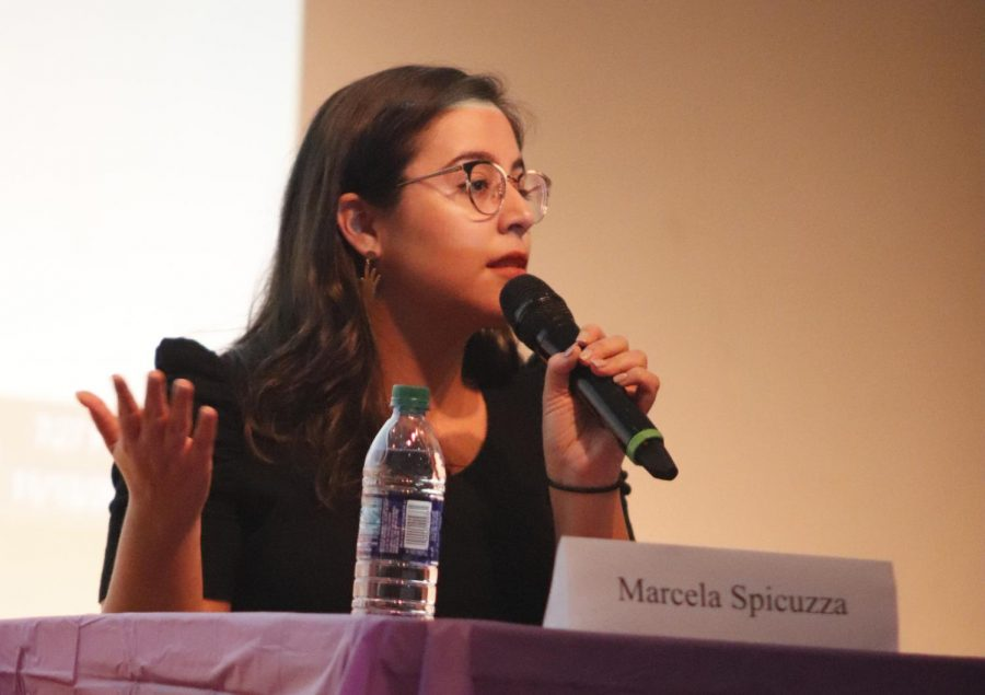 Counselor+at+the+University+Health+Center+Marcela+Spicuzza+gave+input+about+mental+health+and+sexual+assault+at+the+%22My+Life+Matters%22+seminar.
