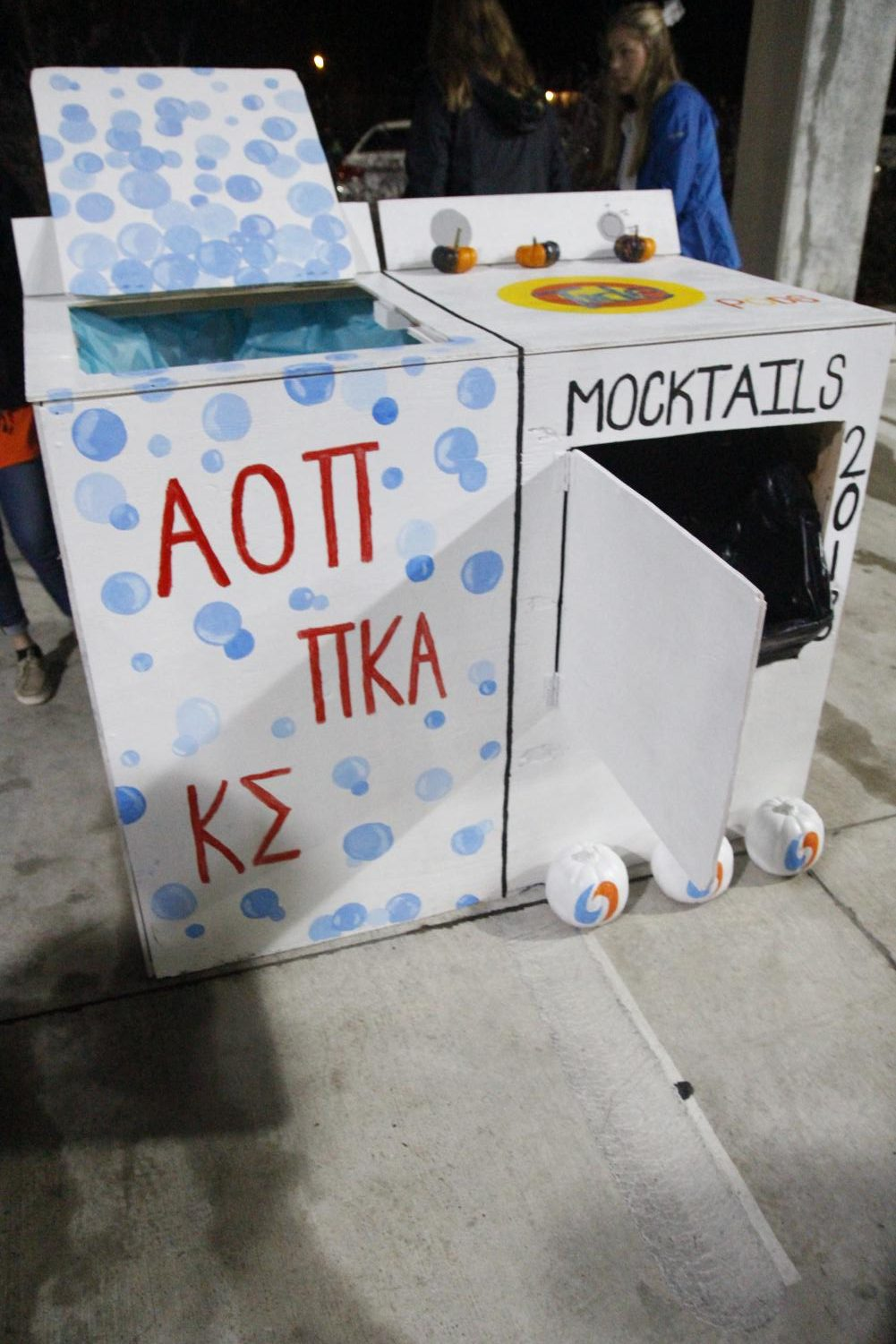 Alpha Omega Pi, Pi Kappa Alpha and Kappa Sigma partnered up to create the first-place booth and overall display.