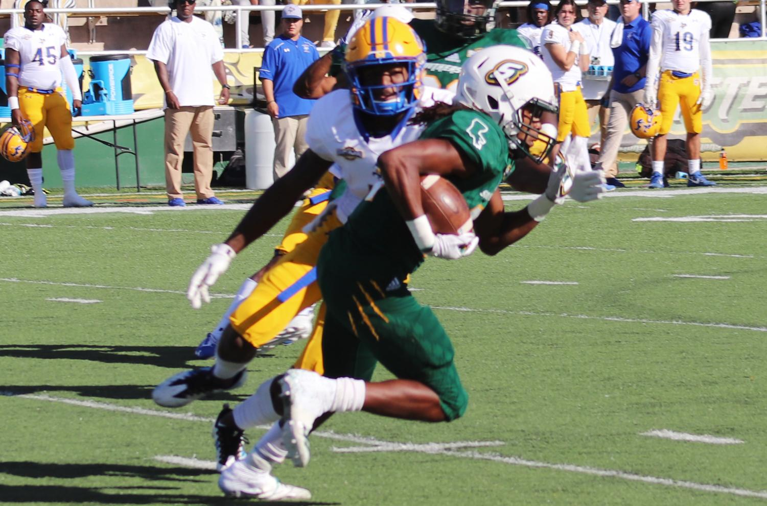 The Lions football team finished its last home game of the season with a 23-6 win against McNeese State University.