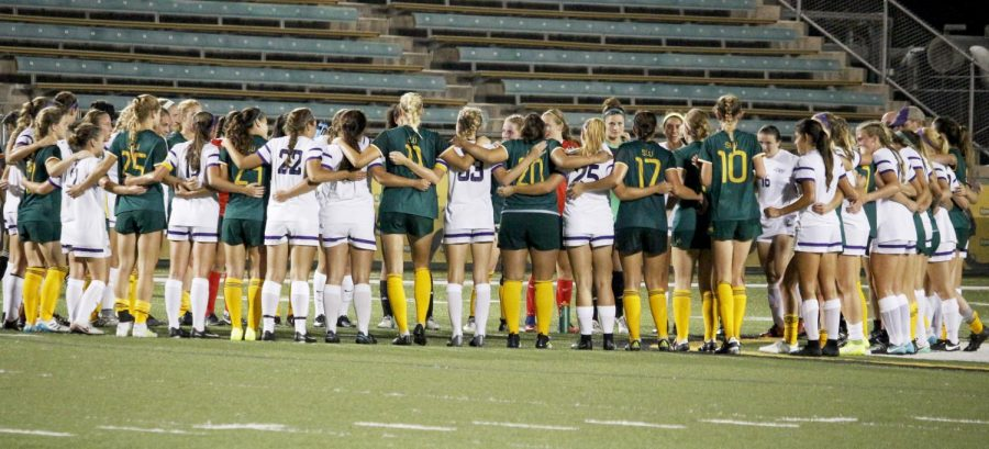 The women's soccer team was recognized for its notable sportsmanship by receiving the United Soccer Coaches Team Ethics and Sportsmanship Award. The team was one of 11 universities in the nation to receive this honor.