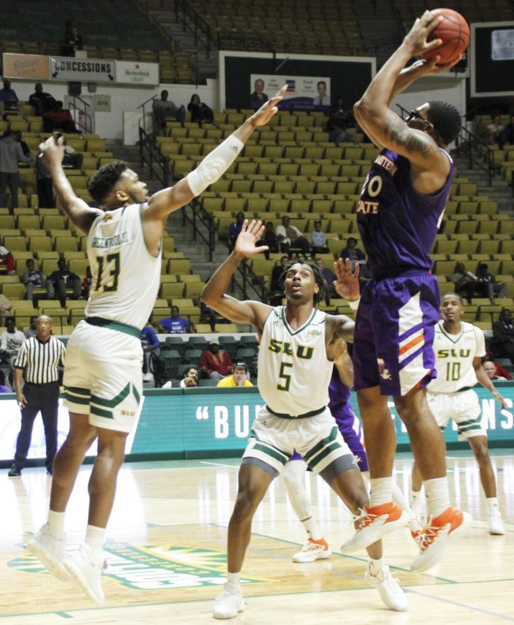 The Lions beat the Northwestern State University Demons 69-55. Moses Greenwood, senior forward, led the Lions with 22 points.