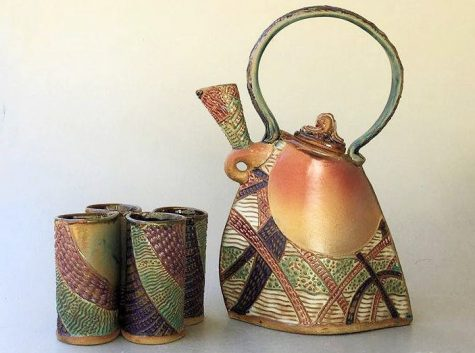 Bumble Bee Pottery sells ceramic items including teapots, jewelry and platters. Helene Fielder encourages aspiring artists to find a style that matches their aesthetic.