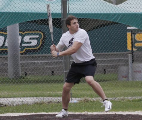 Six teams fought for their place in the intramural softball league at North Oak Park. The teams