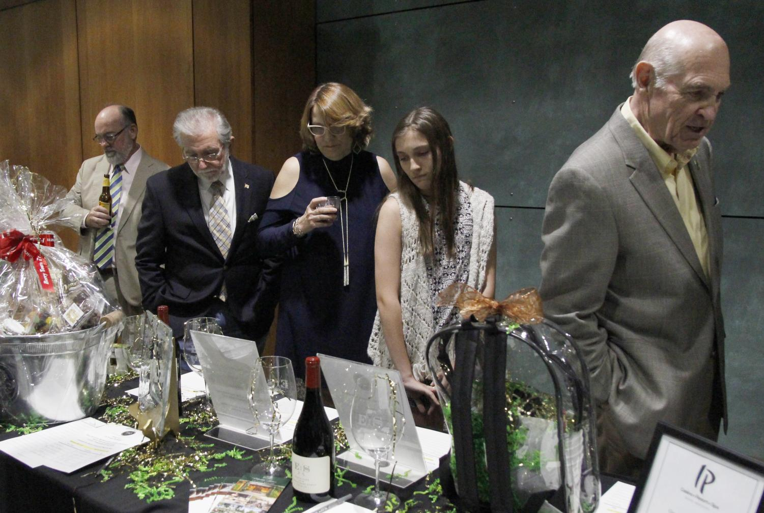 In addition to food, people can enjoy auctions at the annual