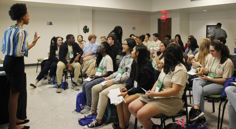 Approximately 200 students from 19 different high schools around the state of Louisiana attended