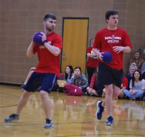 Members of Kappa Sigma participate in the Dodgeball Tournament.