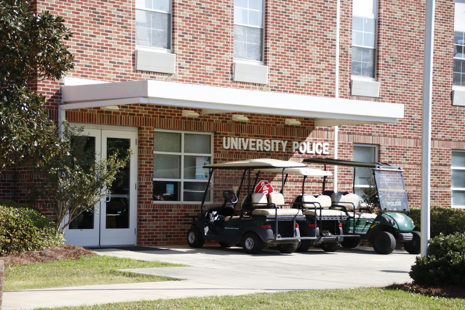 Located in Pride Hall, the University Police Department's centralized placement not only helps in responding to emergency situations, but it also allows the department to be prominent among the student body.