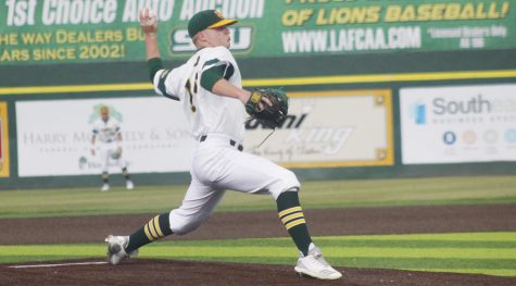The Lions baseball team lost 8-9 against the University of Louisiana at Lafayette. The game dropped the Lions to a 14-15 overall record and a three-game losing streak.