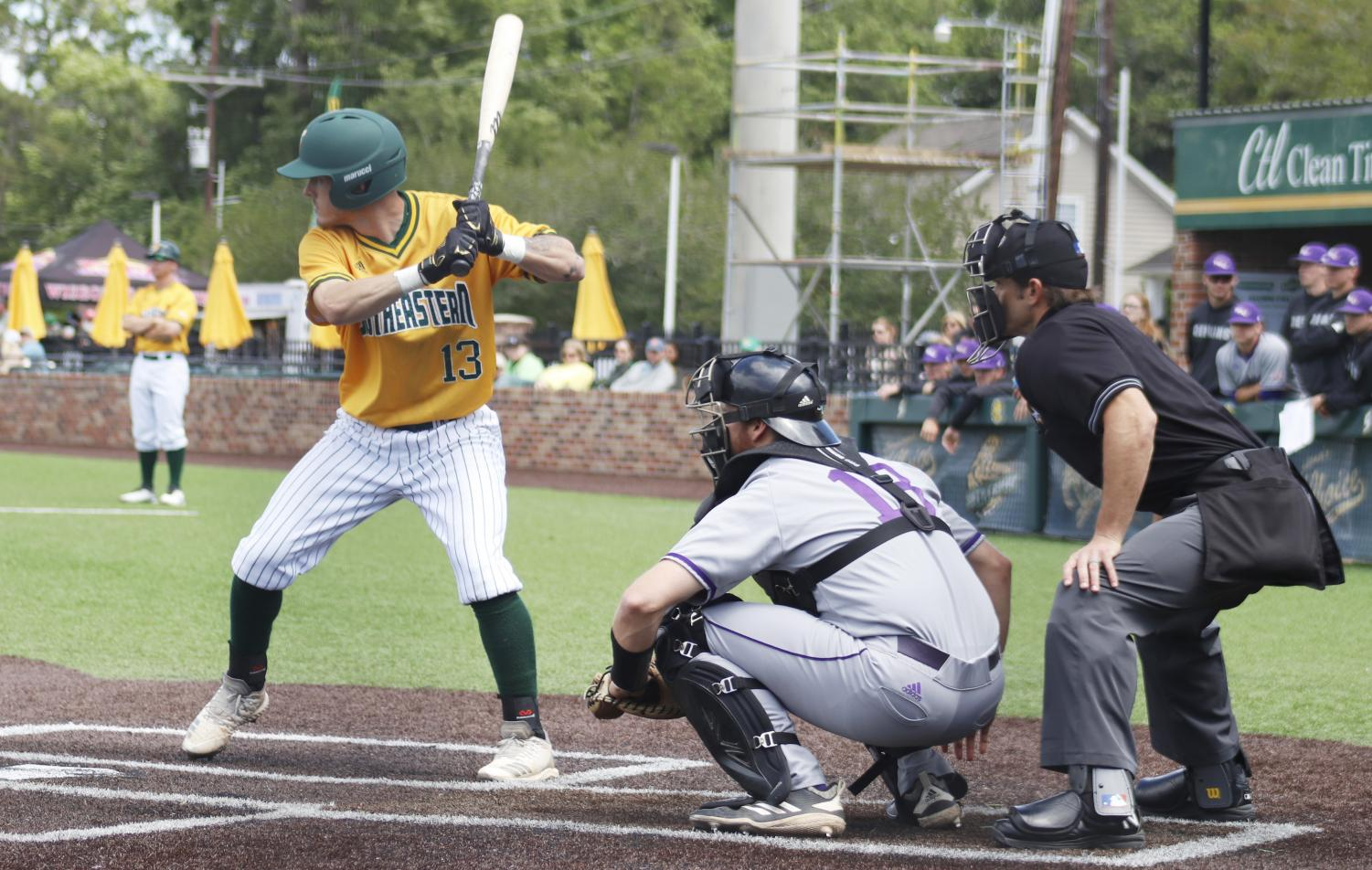 The Lions baseball team took a 2-1 series victory against the Northwestern State University Demons, putting the Lions' record at 18-18.