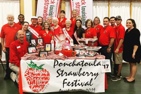 Strawberry Festival royalty and representatives pose for a picture . The 2019 Ponchatoula Strawberry Festival, scheduled to run from April 12-14, will be held at the Memorial Park.
