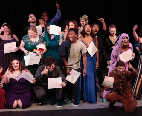 The 2019 Vonnies recognized members of Alpha Psi Omega and the theatre department for their contributions throughout the 2018-2019 season.