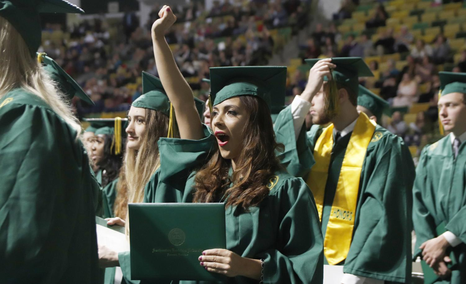 Commencement is held at the end of each spring and fall semester. Alumni have realized that life outside college has its similarities and differences to their collegiate career.