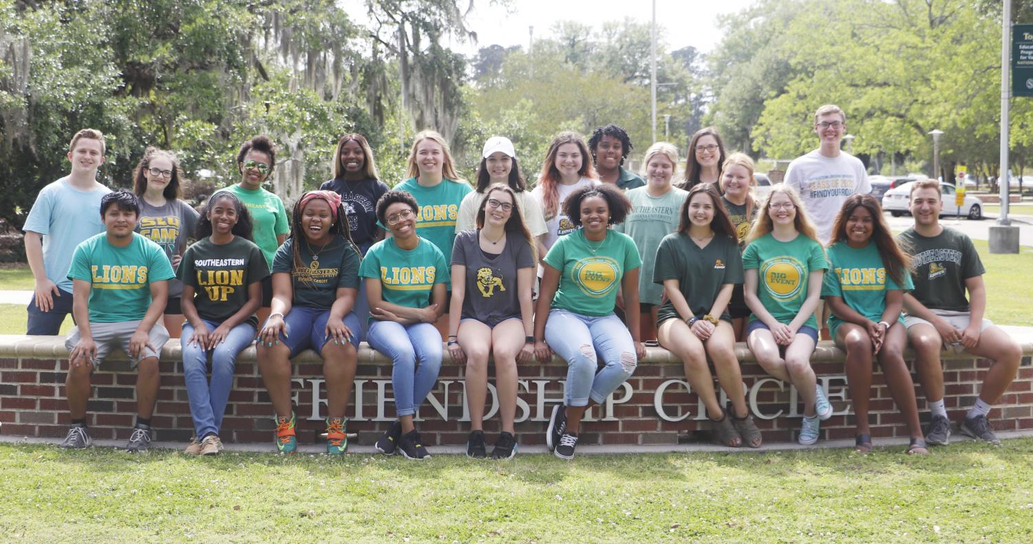 2019 orientation leaders help incoming students adjust to the university. Orientation leaders start their training during the spring semester upon hire.