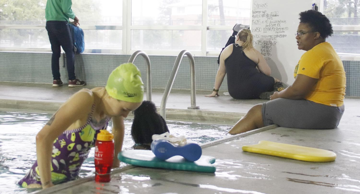In the northeast corner of the kinesiology building, a pool is used for swim classes. Students are allowed to use the pool during their open hours when classes are not in session as well. The pool will be closed for two weeks during the summer for remodeling and resurfacing.