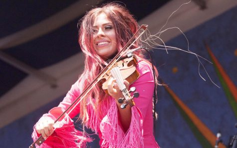 Amanda Shaw, a Cajun fiddler and long time resident of Mandeville, has toured out of the state to places like Europe and Brazil.