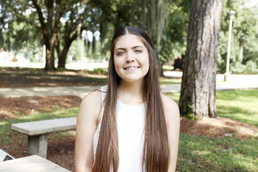 Miranda Matise, a sophomore communication sciences and disorders major, started a club on campus last year for students to learn American Sign Language together called Sounds of Silence. Matise has been losing her hearing since she was 13 years old and is passionate about educating people on the Deaf Community.