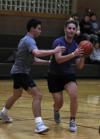 Students participate during the intramural basketball competition organized by the Pennington Student Activity Center during Spring 2019.