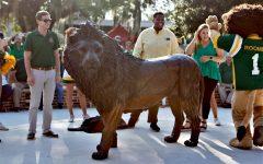 Lion statue revealed
