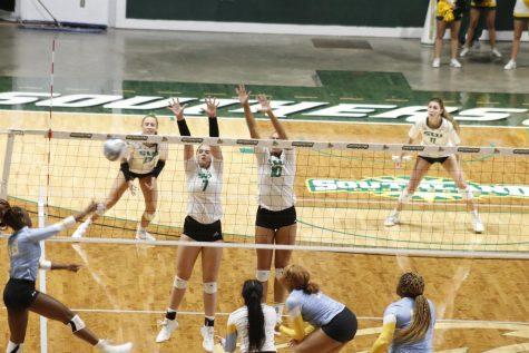 Lady Lions surge past Southern University 3-0