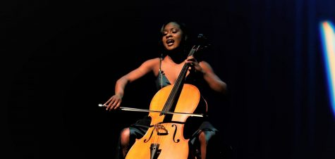 Janine Hatcher, Miss Southeastern Louisiana University 2020, performs a song on cello and sings during the talent portion of the pageant. One of the things that helped Hatcher through the pageant was focusing on her own performance and not comparing herself to others in the competition.