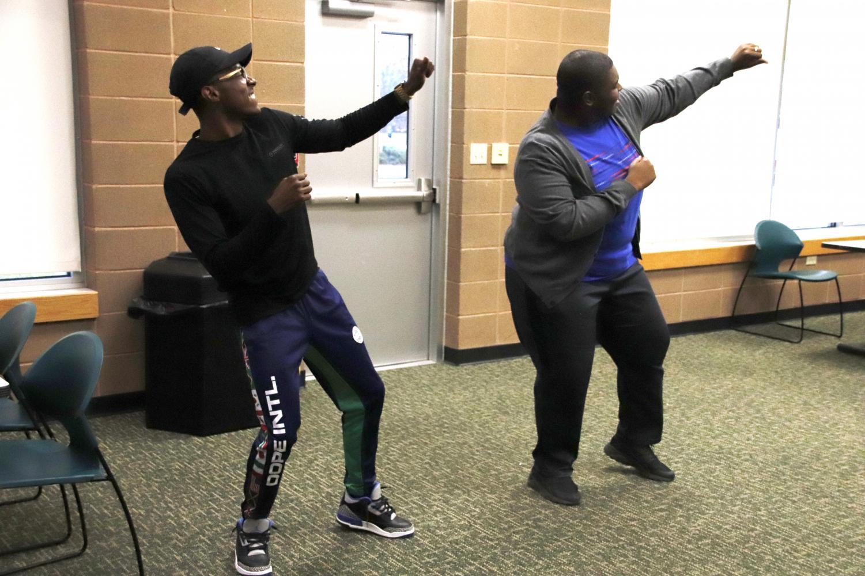 Students performed in jiggaerobics on Nov. 14 in the Pennington Student Activity Center.