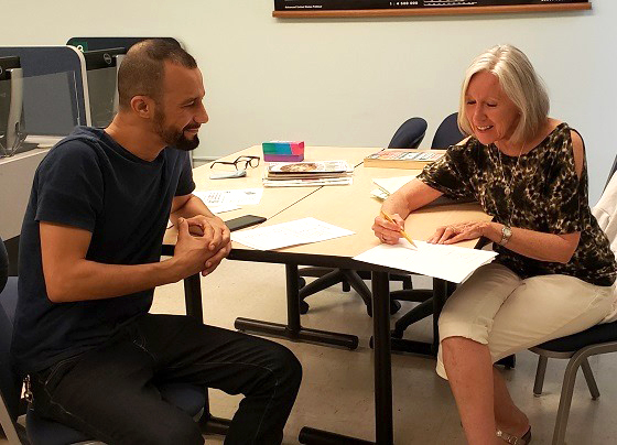 The English as a Second Language program provides non-native students an opportunity to enhance their communication skills with native English speakers. Courtesy of Danielle Perez de Corcho