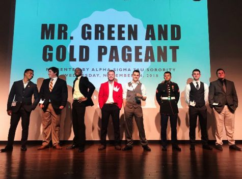 Pictured above are the contestants of Mr. Green and Gold 2018. This year, the pageant will be  organized on Nov. 6 at 7 p.m.