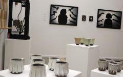 Senior art majors exhibit their semester's work