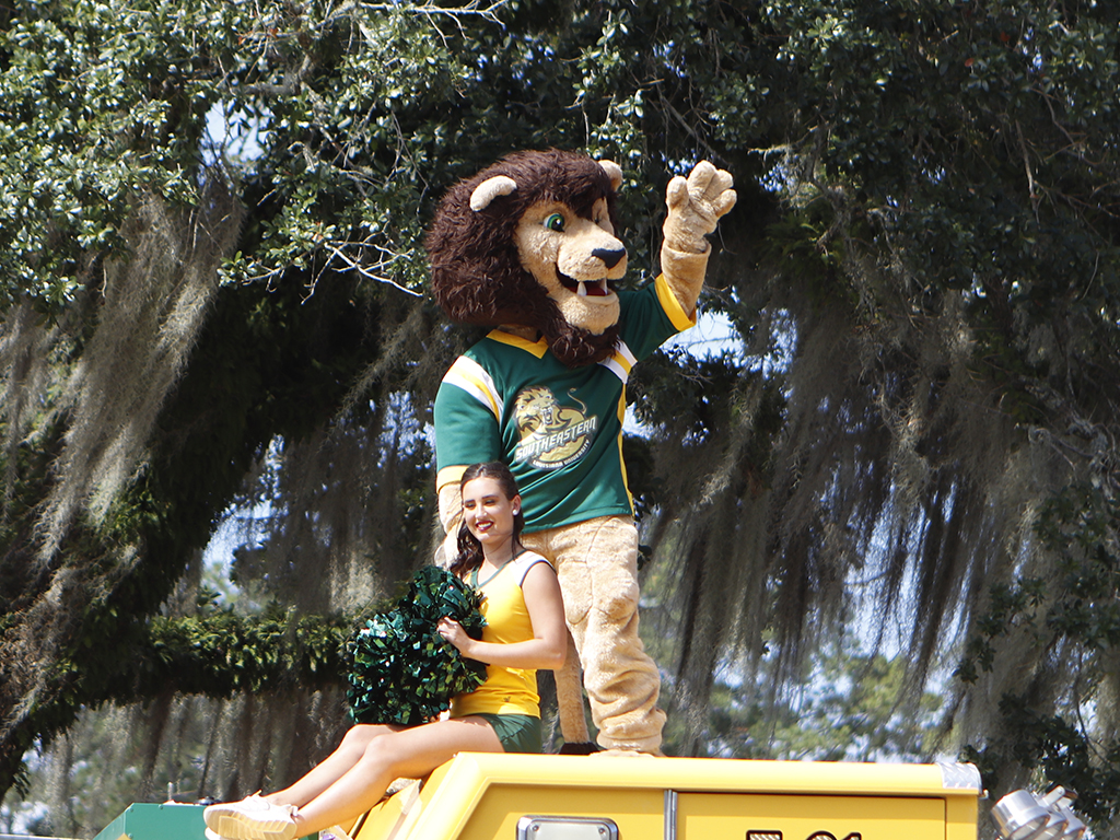Roomie the Lion appears in several events including the Homecoming Parade, Storm 30 and Strawberry Jam. To audition for Roomie, contact Catherine Lawrence.