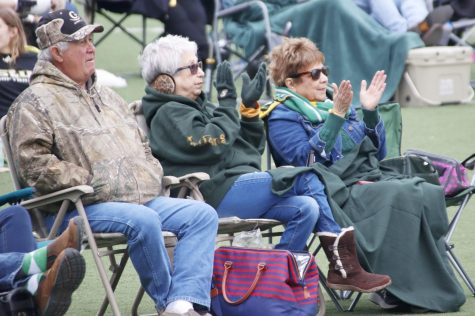 Students, faculty and community members gathered in Strawberry Stadium on Dec. 7 to watch the FCS Playoff game against the University of Montana. Fans were encouraged to bring their own chairs, blankets and food while cheering for the Lions.
