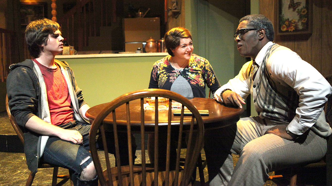 """The university's theatre program produced the 2016 Inkslinger Playwriting Competition winner, """"Why Are You Nowhere,"""" by Ethan Warren, in the spring of 2017. Inkslinger allows aspiring playwrights to have their work come to life on stage."""