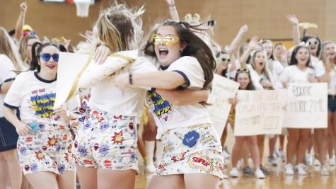 Theta Phi Alpha during Bid Day in the fall of 2019. Spring 2020 Recruitment offers a more casual experience for potential members than fall recruitment.