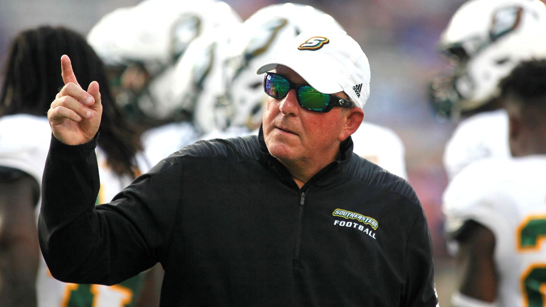 Frank Scelfo, head coach of football.