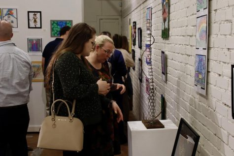 Young artist opening exhibition brings hundreds of guests