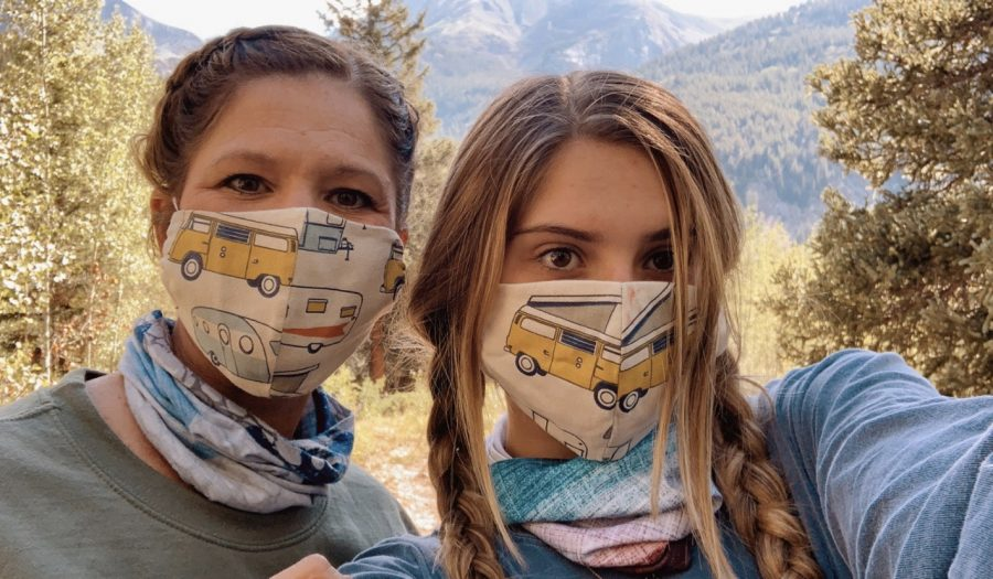 Since face coverings are required within buildings on campus, some students are taking the opportunity to make their own masks. Fashionable and trendy face coverings are becoming more common.