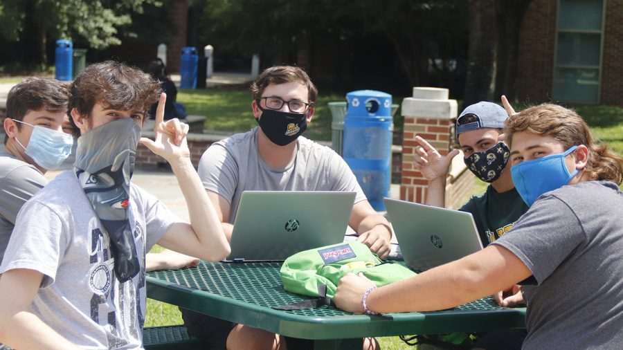 Face coverings are required while in any campus building as well as while any students are gathered on campus. Students are encouraged to self-monitor for symptoms of COVID-19 and to stay home if they are sick.