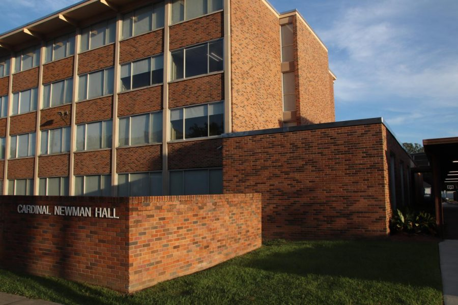 The on-campus residence building Cardinal Newman Hall is currently being used as the designated quarantine area for students who have contracted COVID-19. The dorm building is located on the corner of West Dakota Street and North Pine Street.