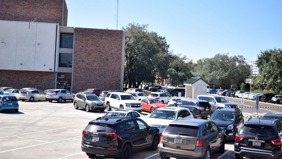 A turning lane was added to the parking lot behind D Vickers Hall in order to keep pedestrians and other drivers safe.