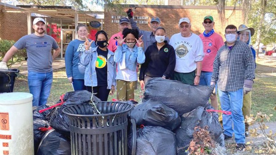 Located at 108 S. Pine St. in Hammond, the Miller Memorial Library Family Resource Center was recently cleaned by members of the Hammond Kiwanis Club and three university students. Through this community service project, the volunteers picked up trash, cleaned up branches and leaves, pressure washed the building and more.