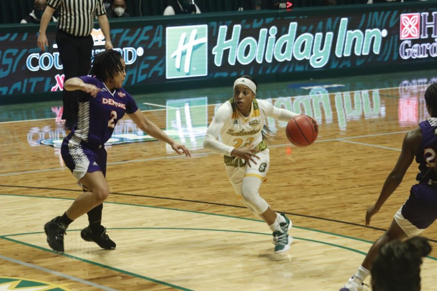 The Lady Lions basketball team will face Sam Houston State University on Feb. 10.